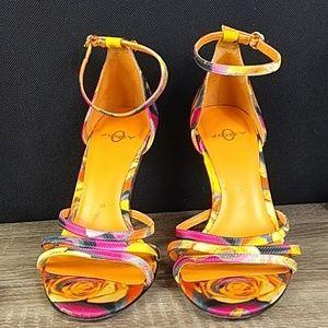 Joey 5 spring flower stiletto open heels sandals